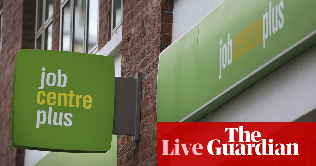 UK unemployment rate falls to 4.7% as payrolls surge – business live