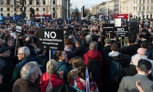 A London protest against antisemitism In the Labour party.