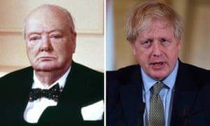 Winston Churchill and Boris Johnson