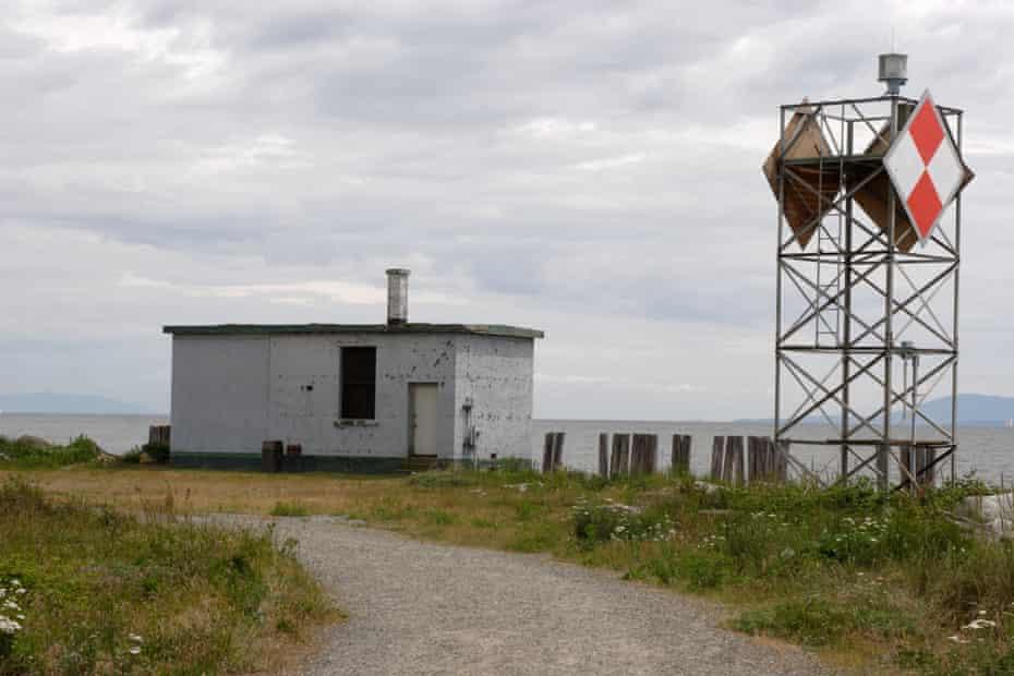 A lighthouse installation at Point Roberts, Washington.