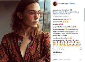A post from Alexa Chung's Instagram feed.