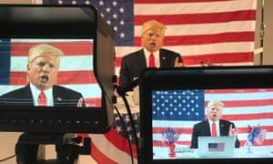 Di Domenico on TV as Trump.