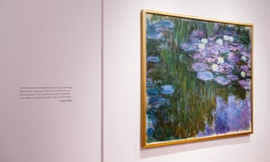 Monet's painting on display at Christie's auction house in New York, New York Tuesday.