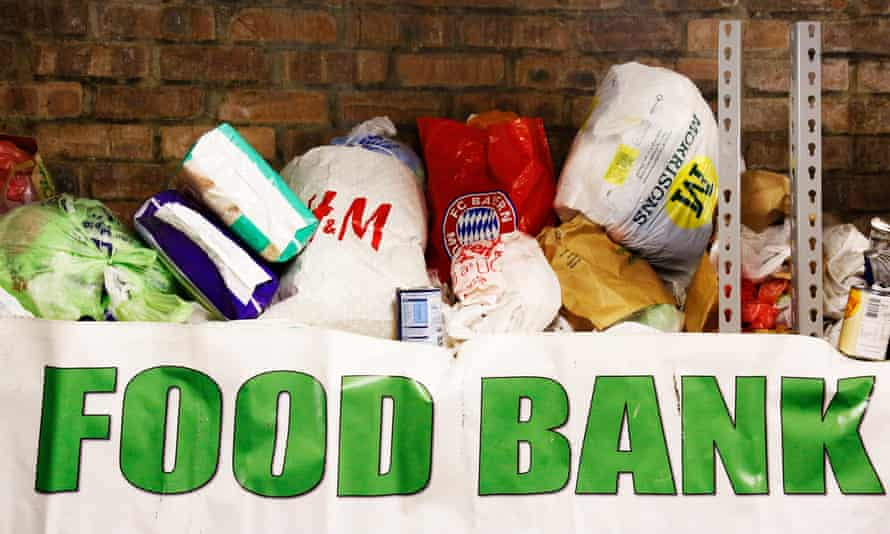 A food bank in Glasgow.