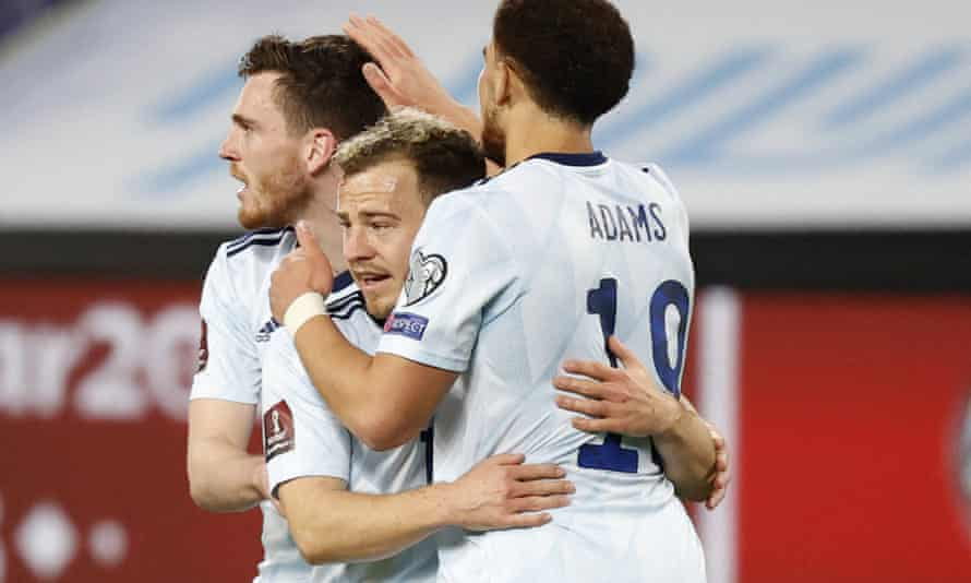 Ryan Fraser is congratulated on his goal.
