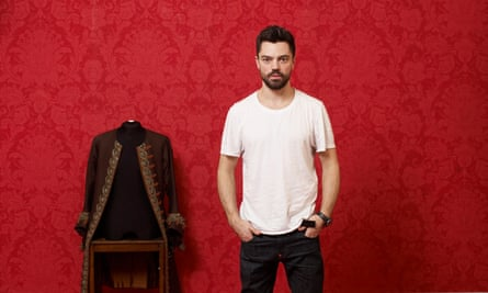 Dominic Cooper in his dressing room for The Libertine at the Theatre Royal Haymarket, London.