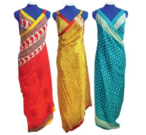 Summer style: vintage saris are turned into beautifully simple dresses by the Secret Sari project