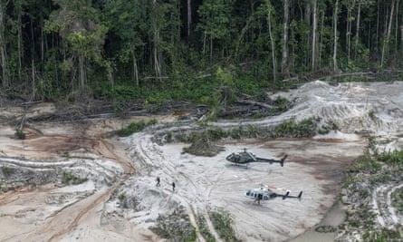 The Munduruku indigenous lands in Para state with ground stripped bare by mining