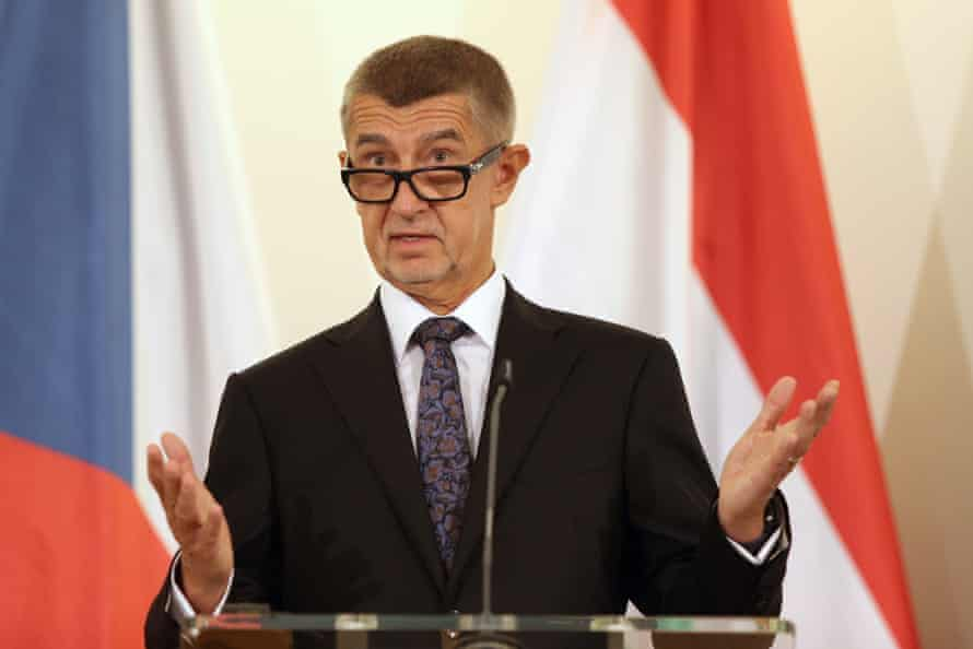 The Czech prime minister, Andrej Babiš