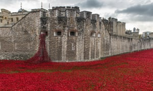 The installation of ceramic poppies at the Tower of London in 2014 that marked the centenary of the outbreak of the first world war.