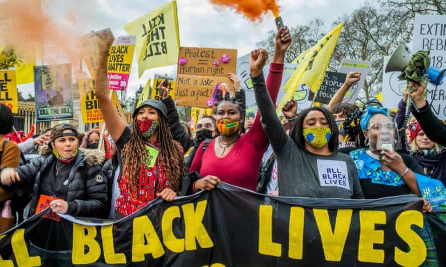 A 'kill the bill' protest in London on 3 April