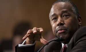 Ben Carson offered no objections to the budget proposed by the Trump administration.