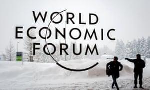 Davos Congress Centre under snow. Philip Hammond will address business leaders as day three of the World Economic Forum gets underway in Davos