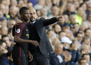 Guardiola sends on Iheanacho.