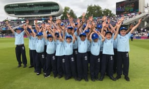 Children from Highgate cricket club at Lords, London