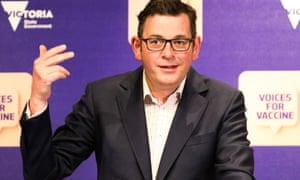 The Victorian premier Daniel Andrews speaks to the media on Thursday.