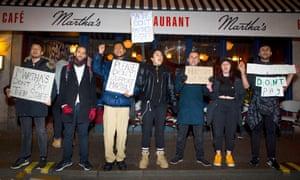 Martha's restaurant protesters