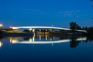 Ölhafen Bridge by Schneider+Schumacher in Raunheim, Germany
