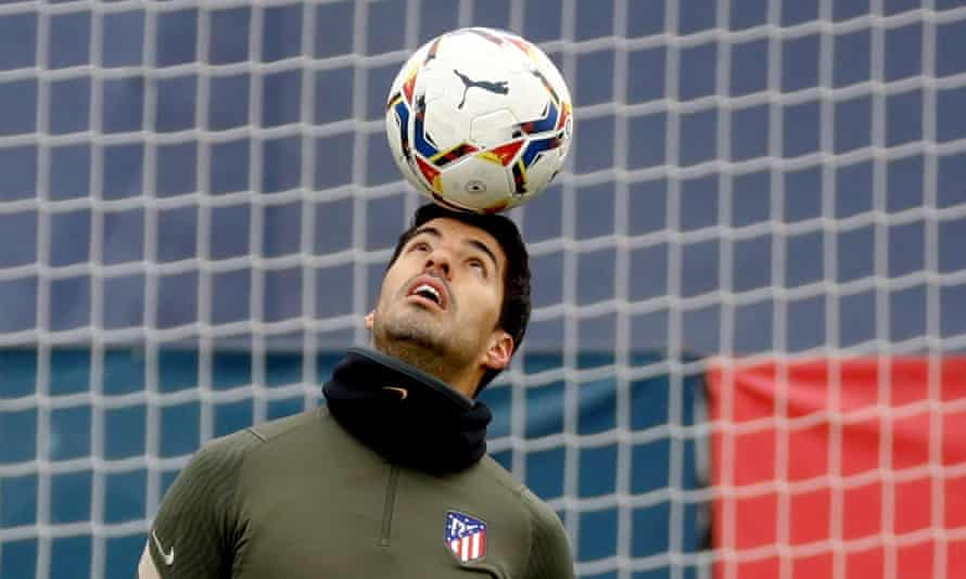 Luis Suárez training on Friday with Atlético Madrid