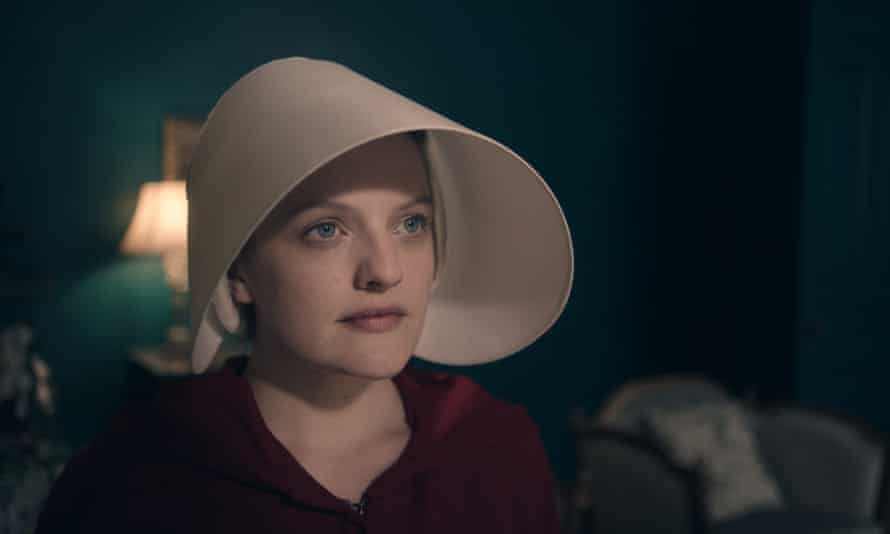 Utterly captivating … Elisabeth Moss as Offred in The Handmaid's Tale.
