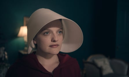 Maid in America: Elisabeth Moss as Offred.