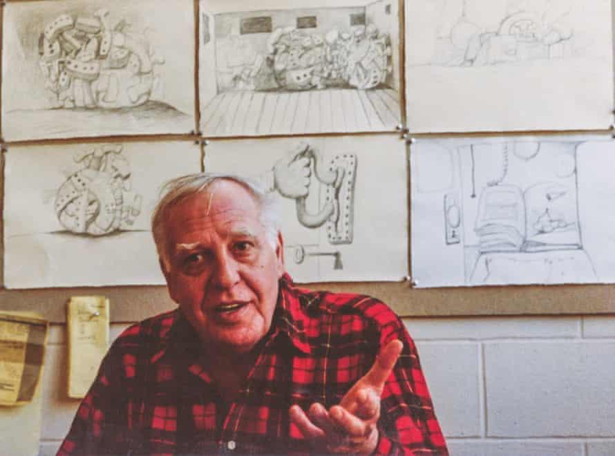 Guston in his studio, 1980
