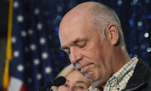 Republican Greg Gianforte speaks to supporters after winning Montana's open congressional seat in Bozeman, Montana.