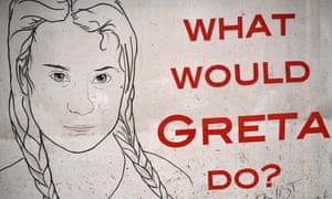 A poster featuring Greta Thunberg