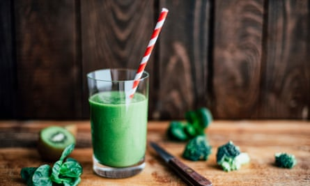 Green smoothie … counts as dinner – just.