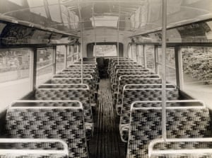 Upper deck interior, C1-type trolleybus, Topical Press, 1935