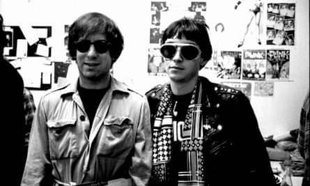 Danny Fields (left) and Arturo Vega, the Ramones' art director.