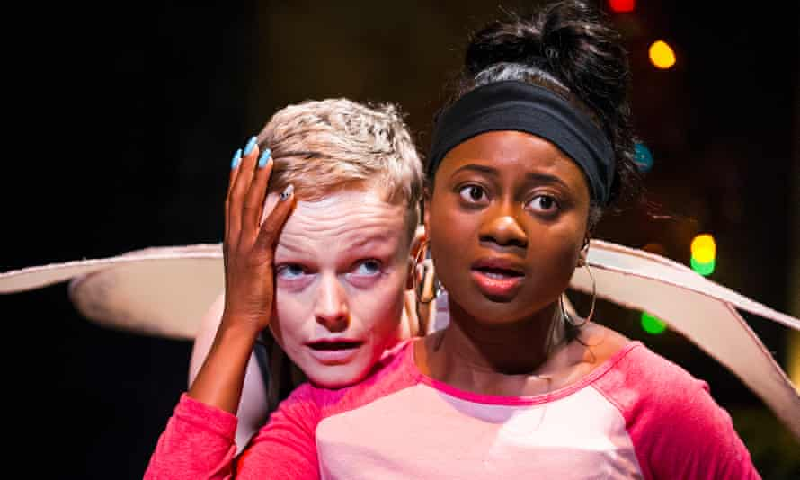 'As much poem as polemic' … Maxine Peake as the skriker and Juma Sharkah as Lily in The Skriker by Caryl Churchill at the Royal Exchange, Manchester.