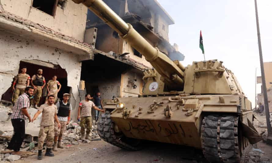 Forces loyal to Libya's UN-backed GNA during their operation to clear Isis from the city.