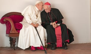 Best adapted screenplay nomination … The Two Popes, starring Anthony Hopkins and Jonathan Pryce.