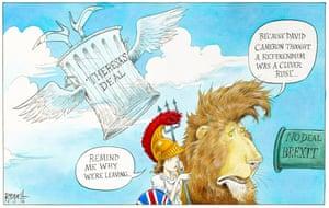 Britannia faces her future.