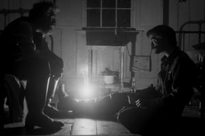 Williem Dafoe and Robert Pattinson in The Lighthouse, directed by Robert Eggers.