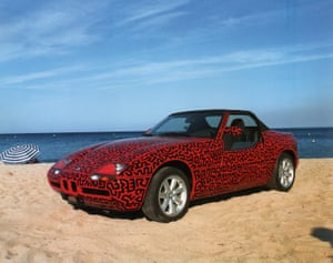 Untitled (automobile), 1990 1990 BMW Z1 Paint on vehicle body Collection of Enrico Navarra