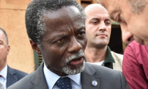 The head of the UN mission in Central African Republic, Parfait Onanga-Anyanga, in Bangui last December