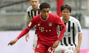 Jamal Musiala on his Bayern Munich debut against Freiburg on 20 June, when he became the club's youngest player to appear in the Bundesliga.
