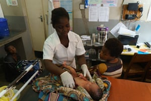 Kennifer Samu, 26, nurse-midwife, Ruth Anderson, 19, Ngokwe Health Centre, Machinga, Malawi
