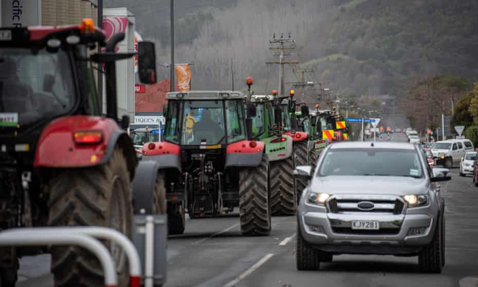 A July 2021 farmers' protest against NZ regulations making diesel and higher emission vehicles more costly