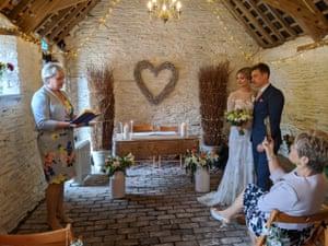 Isobel and Ian's socially distanced wedding.