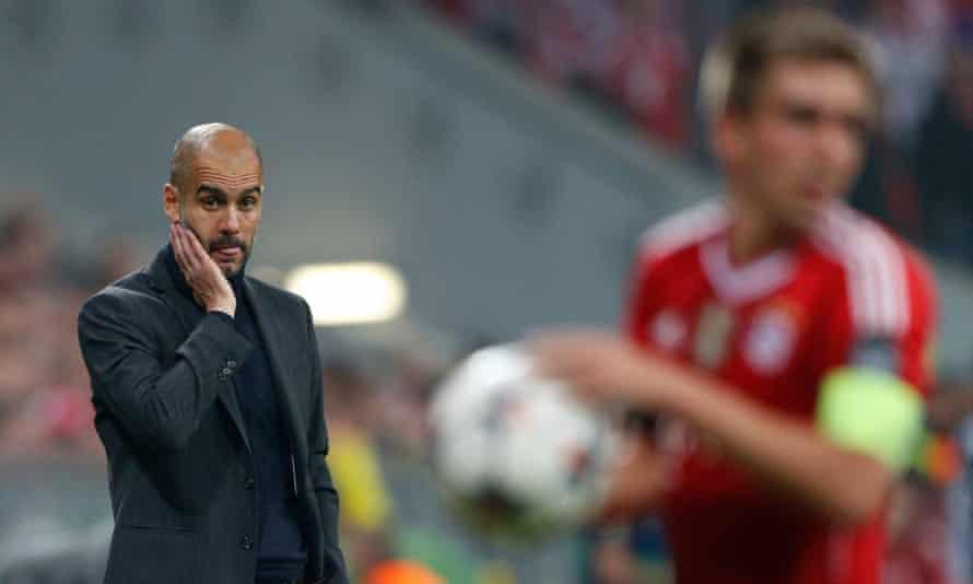 Philipp Lahm and Pep Guardiola at Bayern Munich.