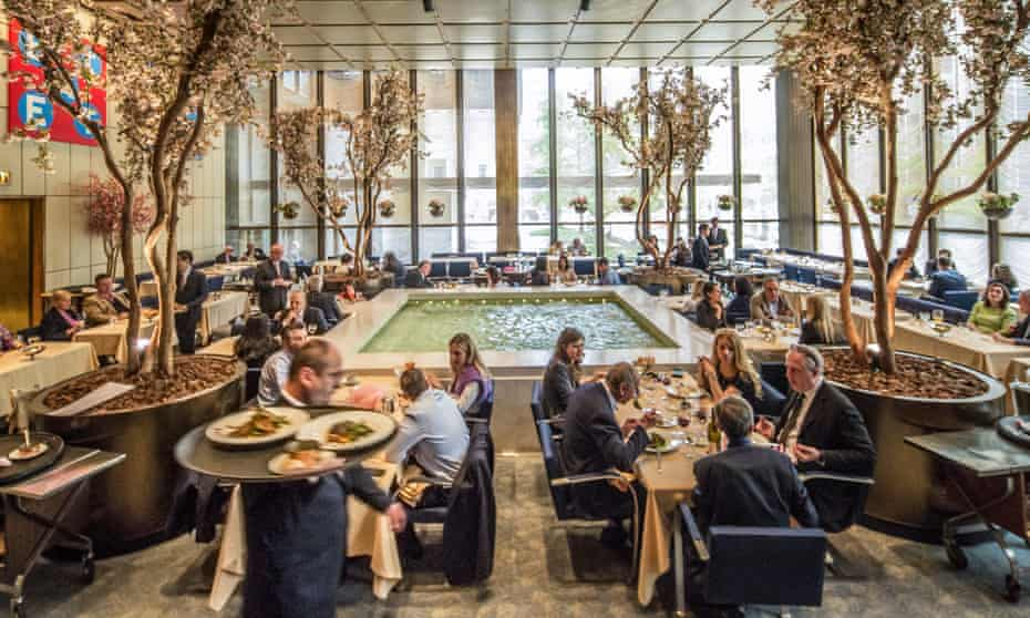 The interior of the Pool Room at the Four Seasons restaurant, in New York: where the city's powerful had dinner.