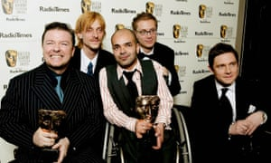 Atalla (centre) won a Bafta in 2004 for his work on The Office.