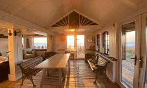 Innenraum der Strandhütte, Isle of Sheppey
