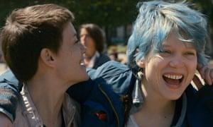 Women in love: Léa Seydoux in Blue is the Warmest Colour.