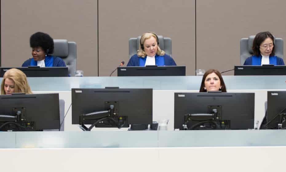 Judges Joyce Aluoch (Kenya), Sylvia Steiner (Brazil) and Kuniko Ozaki (Japan) at a sentencing in June.