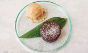 'Not actively offensive': chocolate fondant.