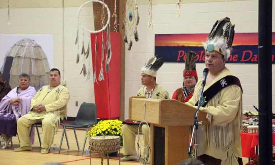 Chief William Nicholas, 51, leader of the Passamaquoddy's Indian township reservation.